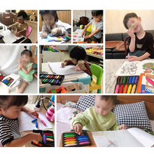 Load image into Gallery viewer, 12/24 Colors Toddler Washable Safe Palm-Grip Crayons