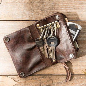 Small Key Holder Coin Card Car Key Wallet