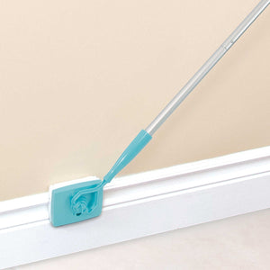 Household lazy retractable fiber cleaning stick cleaning brush