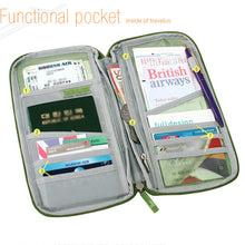 Load image into Gallery viewer, Multiple Pockets Passport Holder Wallet Travel Organizer Bag