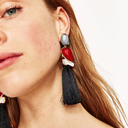 Womens Fashion Vintage  Boho Tassels Earrings