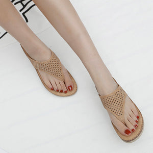 Women Clip Toe Bohemian Style Slippers Beach Shoes
