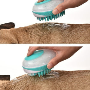 Multifunctional Portable Pet Bath Massage Brush Mouse Feel Press Out Shower
