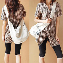 Load image into Gallery viewer, Casual Irregular Canvas Large Capacity Shoulder Bag Crossbody Bag