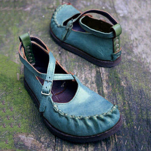 Buckle Vintage Casual Flat Shoes
