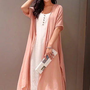 Summer/Spring/Fall Women Crew Neck Casual Dresses Two Piece Going Out Solid Dresses