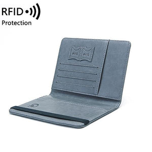Women Men RFID Protection Multi-function Passport Card Holder Wallet