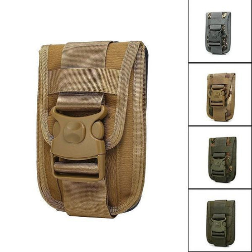 Vertical Belt Buckle Phone Waist Bag