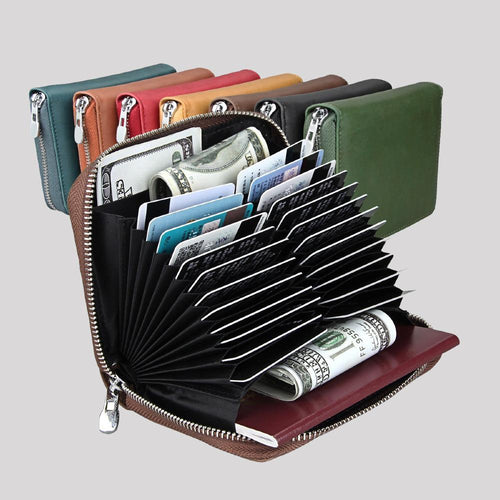 RFID Blocking 24 Slot Credit Card Holder Wallet