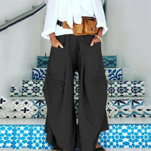 Load image into Gallery viewer, Plus Size Casual Pockets Loose Solid Pants