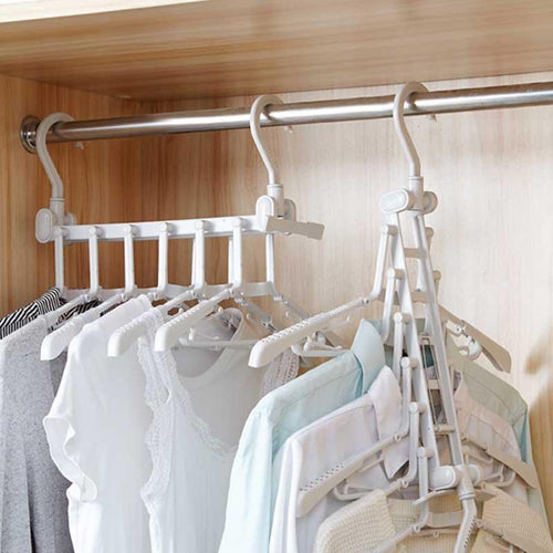 Magic Multi-function Folding Multi-storey Household Wardrobe Artifact Clothes Rack