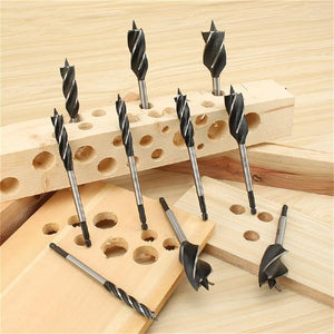 2pcs Four-slot Four-blade High Speed Steel Twist Drill Bit
