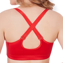 Load image into Gallery viewer, Front Closure Wireless Lace Busty Crisscross Straps Back Bras