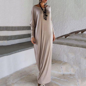 Batwing One Shoulder Casual Dress