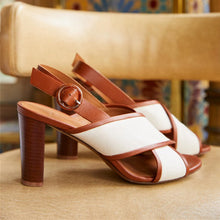 Load image into Gallery viewer, Women Vintage Chunky Heel Peep Toe Sandals