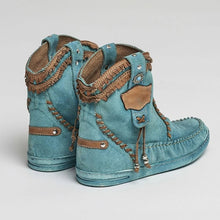 Load image into Gallery viewer, Blue Spring/Fall Faux Suede Boots