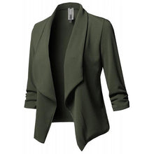 Load image into Gallery viewer, Slim Long Sleeved Solid Color Shawl Collar Blazer