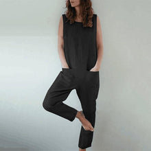 Load image into Gallery viewer, Plus Size Solid Color Pocket Jumpsuits