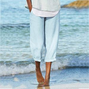 Summer Loose Solid Color Pants