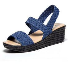 Load image into Gallery viewer, Elastic Wedge Heel Knitting Sandals