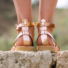 Load image into Gallery viewer, Fashion Greek Elegant Flat Ankle Strap Sandals