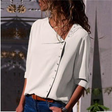 Load image into Gallery viewer, Women's Rollable Sleeve Button Front Blouses