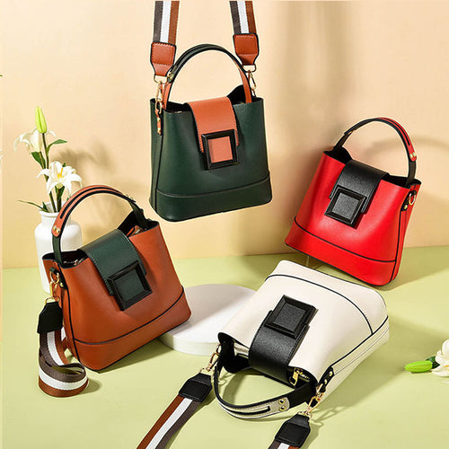 Retro PU Leather Muti-Pocket Shoulder Bag
