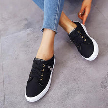 Load image into Gallery viewer, Fashion Lace-Up Zipper Stitching Flat Sneaker