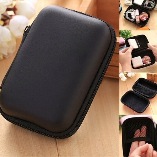 Women Casual Solid Data Cable Storage Bags