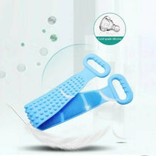 Load image into Gallery viewer, Long Bath Towel Exfoliating Scrub Silicone Double-Sided Back Scrubber