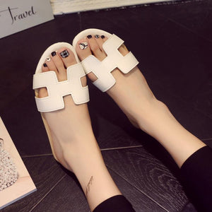 Fashion Opened Toe H Type Flat Outdoor Slippers