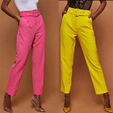 Load image into Gallery viewer, Women High Waist Office Formal Casual Pants Plain Trousers