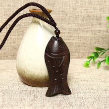 Load image into Gallery viewer, Vintage Wood Fish Pendant Sweater Long Charm Necklace Ethnic Jewelry