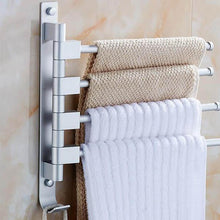 Load image into Gallery viewer, Rotatable Towel Rack Corner Bathroom Shelf