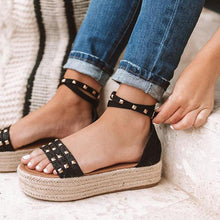 Load image into Gallery viewer, Casual Adjustable Buckle Espadrille Sandals