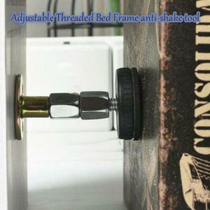Adjustable Threaded Bed Frame Anti-shake Tool Telescopic Support for Room Wall