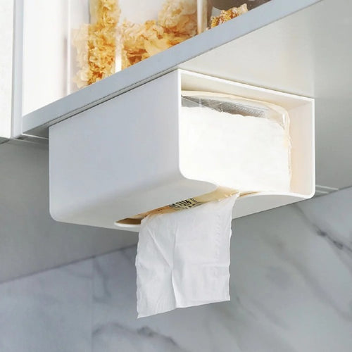 Kitchen Perforated Wall-mounted Tissue Box Paper Towel Rack