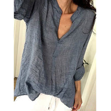 Load image into Gallery viewer, Women Casual V Neck Long Sleeve T-shirts Blouses
