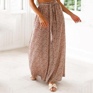 Women Loose Floral Printed Wide Leg Pants Yoga Trousers