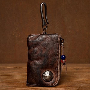 Mens Small Coin Card Holder Car Key Wallet
