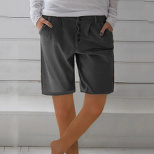 Load image into Gallery viewer, Women Casual Button Shorts Pants