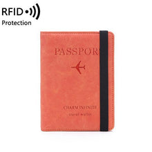 Load image into Gallery viewer, Women Men RFID Protection Multi-function Passport Card Holder Wallet