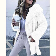 Load image into Gallery viewer, Women Plush Trench Coat Lamb Warm Coats