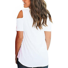 Load image into Gallery viewer, Sexy Criss Cross Off Shoulder Short Sleeve Tees