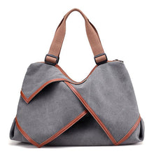 Load image into Gallery viewer, Canvas Shoulder Bag Handbag Casual Travel Bag