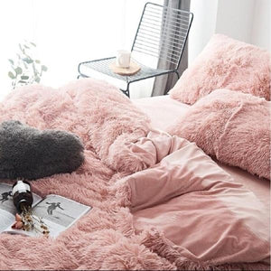 Home Decor Super Soft Shaggy Plush Blanket Sofa (Without Pillowcase)