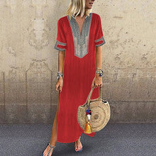 Load image into Gallery viewer, Spring/Fall/Summer Women Casual Vintage Ethinc Feature Beach Dress