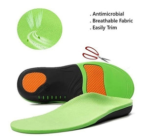 Professional High Arch Support Orthopedic Shoes Insert Sports Gel Sole Fasciitis
