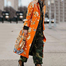 Load image into Gallery viewer, Street Fashion Floral Printed Pockets Coats