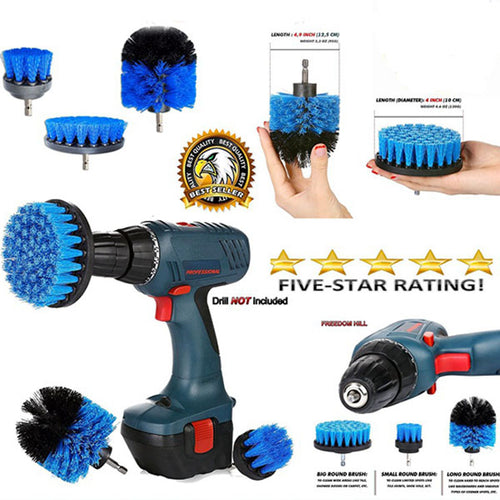 Tile Grout Power Scrubber Cleaning Drill Brush Tub Kitchen Bathroom Surfaces Cleaning Tools